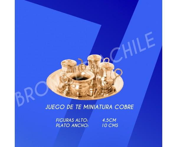 JUEGO DE TE MINIATURA COBRE