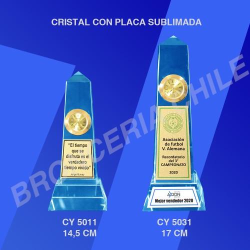 CRISTAL CON PLACA SUBLIMADA CY 5031 - CY 5011