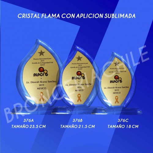 Cristal 376A Flama Con Placa Sublimada