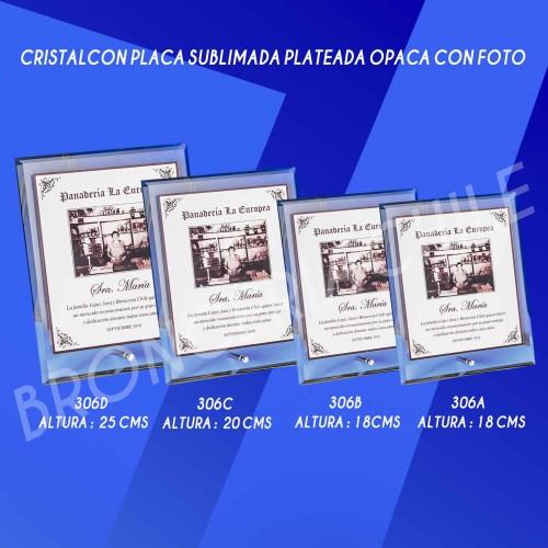CRISTAL 306  CON PLACA SUBLIMADA