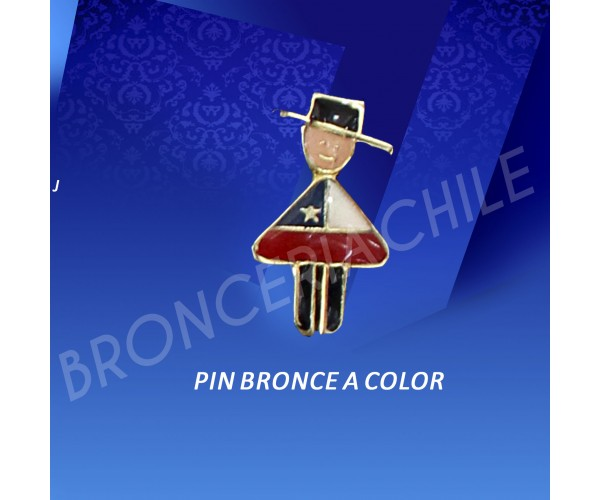 pin bronce a color.