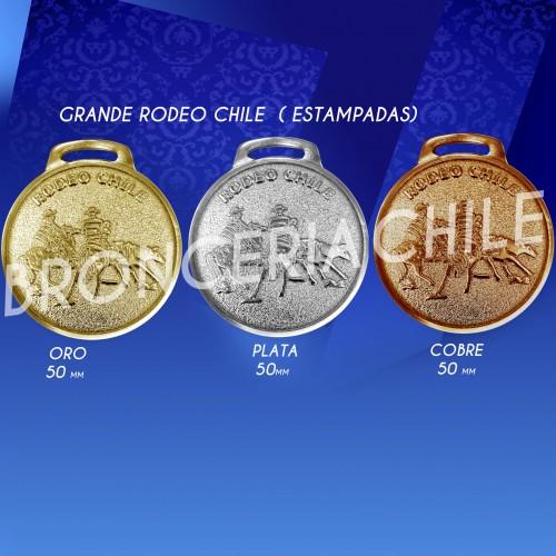 MEDALLA NACIONAL GRANDE RODEO CHILE