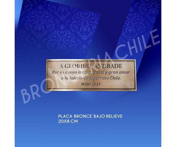 Placa  bronce  bajo relieve